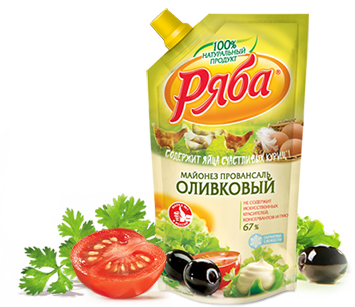 Майонез Ряба Оливковый 67% жирности, 233 г - НМЖК ОАО (Россия)
