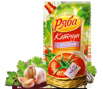 Кетчуп Ряба С чесноком, 260 г - НМЖК ОАО (Россия)