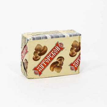 Продукт сырный плавленый Хуторской 40% с грибами, 100 г - Милкаком (Беларусь)