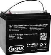 Мотоциклетный аккумулятор Kiper GPL-12750 (12В/75 А·ч)