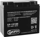 Аккумуляторная батарея 12V/18Ah Kiper GP-12180; 181x167x76 (ШхВхГ)-Kiper (Китай)