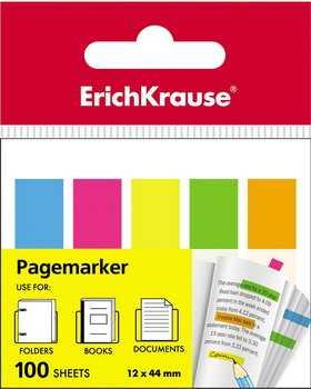 Пластиковые флажки с клеевым краем Erich Krause 5х12х44 мм 100 л