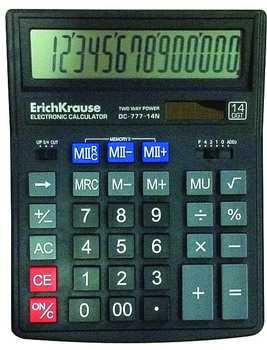 Калькулятор Erich Krause 14-разрядов DC-777-14N