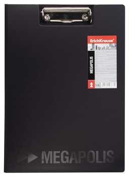 Папка-планшет ERICH KRAUSE Megapolis А4 с верхним прижимом и крышкой
