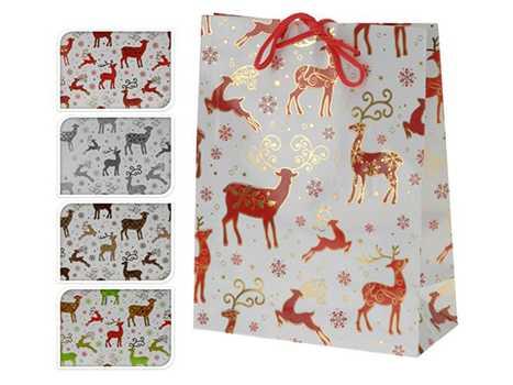 Пакет для подарков бумажный Новогодний 11, 5*6*16 см артикул ABD002000, код 325785