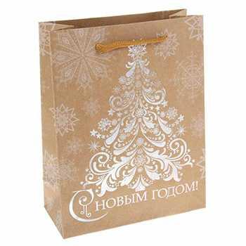 Пакет для подарков бумажный Елка 23*8*27 см артикул 10908768, код 965003