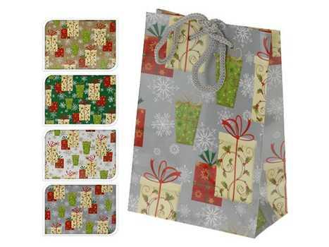 Пакет для подарков бумажный Новогодний 11, 5*6*16 см артикул ABD002150, код 325877