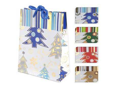 Пакет для подарков бумажный Новогодний 11, 5*6*16 см артикул ABD001240, код 121653