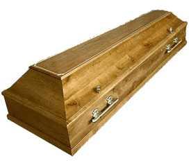 Гроб четырехгранный. Дуб