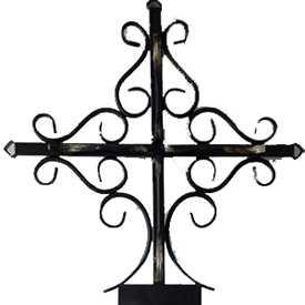 Крест металлический кованный православный