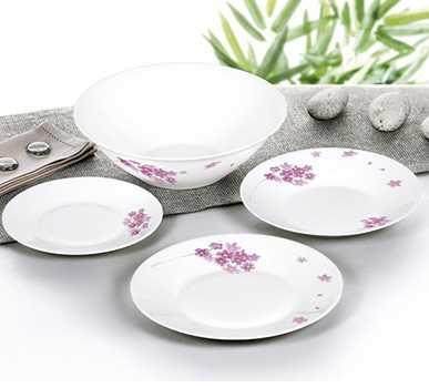 Набор посуды стеклокерамический Luminarc Pink Bloom 19 предметов