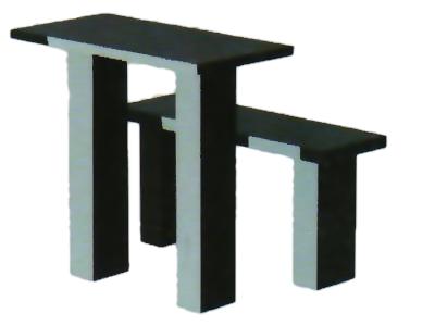 Гранитный стол+лавочка TSK80