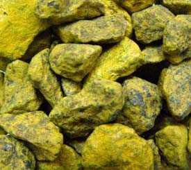 Щебень декоративный натуральный крашенный желтый
