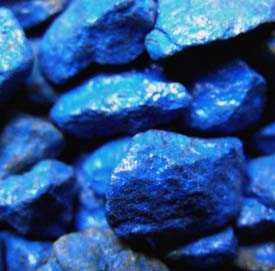 Щебень декоративный натуральный крашенный синий