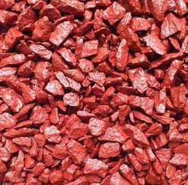 Щебень декоративный натуральный крашенный красный