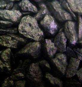 Щебень декоративный натуральный крашенный черный