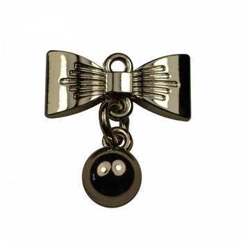Подвеска декоративная металлическая цвет никель артикул 14326-ГНУ