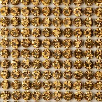 Клеевой бисер на листах цвет золото артикул 6-39-23-ZOL
