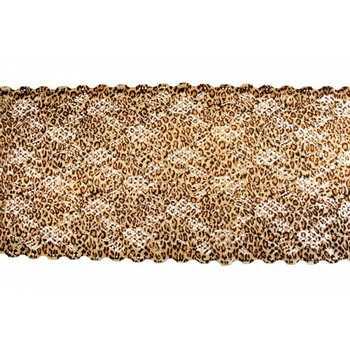 Кружево синтетическое цвет леопард артикул 0144-05