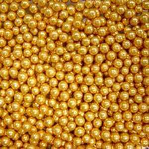 Украшения кондитерские шарики Золото