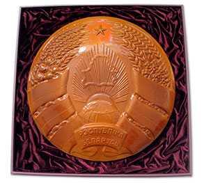 Государственный Герб Республики Беларусь (керамический однотонный, диаметр 42 см)