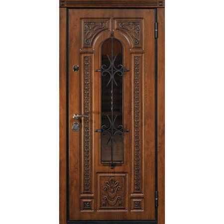 Входные металлические двери ЮрСталь модель Лацио цвет Дуб темный