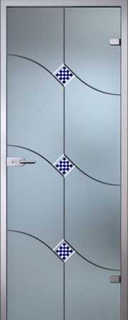Межкомнатная стеклянная дверь Патриция серия Florid