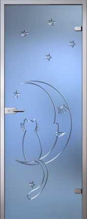 Межкомнатная стеклянная дверь Ночь серия Fantazy