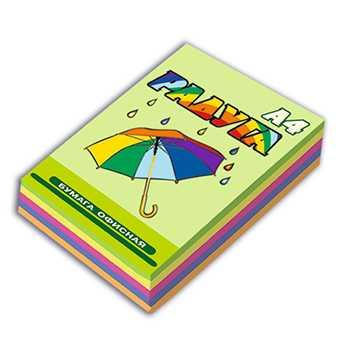 Цветная бумага Радуга - А4 - 80 г/м2 - 250 листов УП Борисовская 'Бумажная фабрика' Гознака