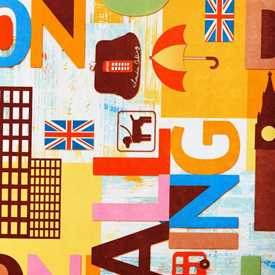 Велюр с термопечатью London