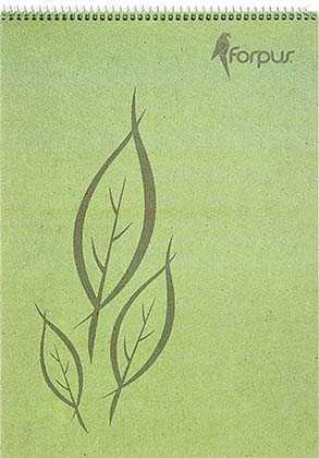 Блокнот на спирали Forpus Kraft в клетку A5, 70 листов
