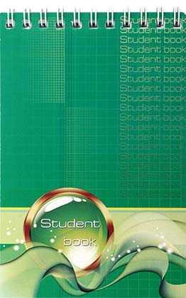 Блокнот на гребне Student book 95×145 мм 60 л., клетка