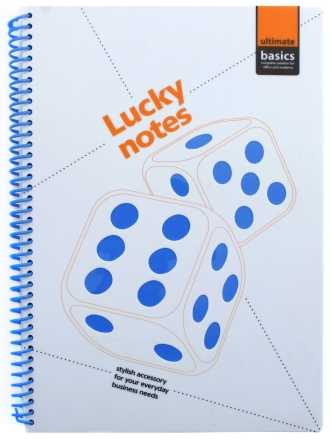 Блокнот на гребне Ultimate Basics 177×253 мм 60 л., клетка, Lucky Notes