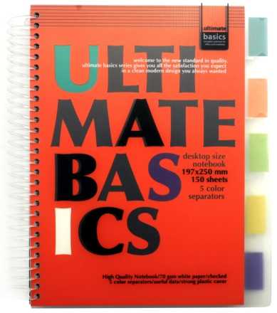 Блокнот с разделителями для записей Ultimate Basics 197×250 мм 150 л., клетка