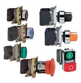 Кнопки и сигнальные лампы Ø 22 мм с металлическим основанием