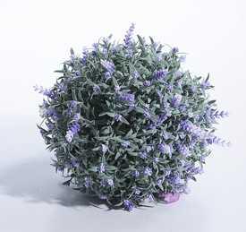 Шар зелёный с цветками лаванды