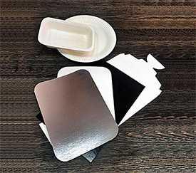 Картон стоковый с покрытием немелованный Nkb0 + 2 PE - двусторонне белый
