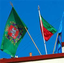 Флаги городов Республики Беларусь уличные (Брест, Витебск, Гомель, Могилев)