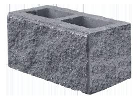 Камень стеновой двухпустотный пескобетонный ломанный 390х190х190