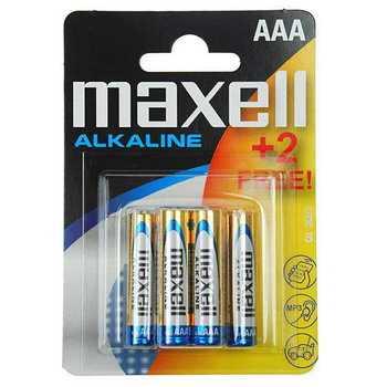 Батарейка AAA LR03 MAXELL Алкалайн 4шт в упаковке