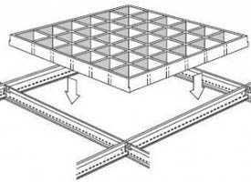 Металлический кассетный подвесной потолок Армстронг Cellio