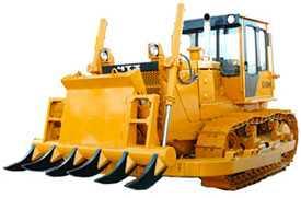 Трактор Б10М с корчевателем
