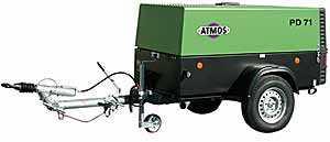 Дизельный передвижной компрессор ATMOS PD 71