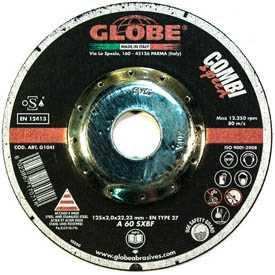 Круг абразивный отрезной GLOBE COMBISPEED 125х2,0х22,2 - Globe (Италия)