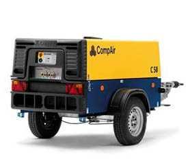 Воздушный винтовой передвижной компрессор COMPAIR C 50 (G - генератор Optional) (DLT 0408)