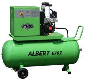 Воздушный винтовой компрессор с осушителем на ресивере ATMOS Albert E.70