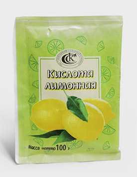 Лимонная кислота в пакетиках, 100 гр