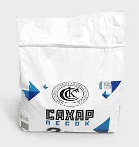 Сахар-песок в бумажных пакетах, 3 кг