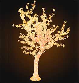 Светодиодное акриловое дерево БАУХИНИЯ 864 LEDS, цвет свечения золото