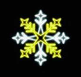 Световой мотив СНЕЖИНКА 0413 (бело-золотистая динамическая)